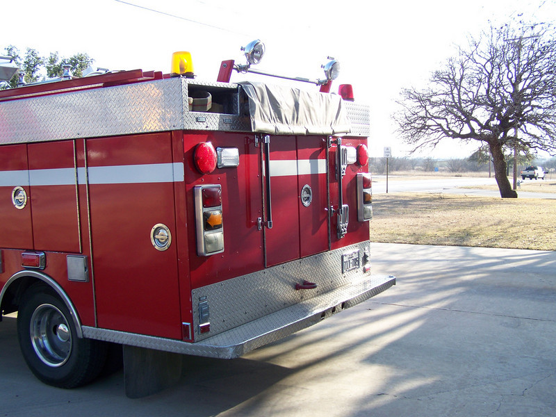 Rear of The old Rescue 1, soon to be renamed Booster 2