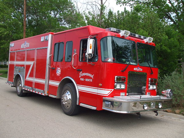 BFD Rescue 1, first piece of apparatus for the BFD to have a LED Light package.