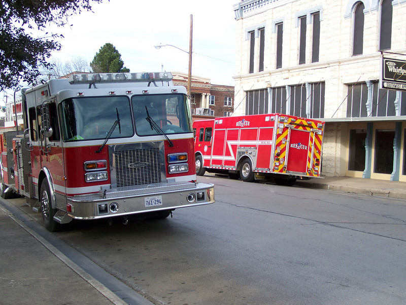 BFD Quint 1 and Rescue 1