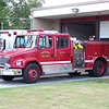 Engine 4 and Medic 4 outside of Station 4