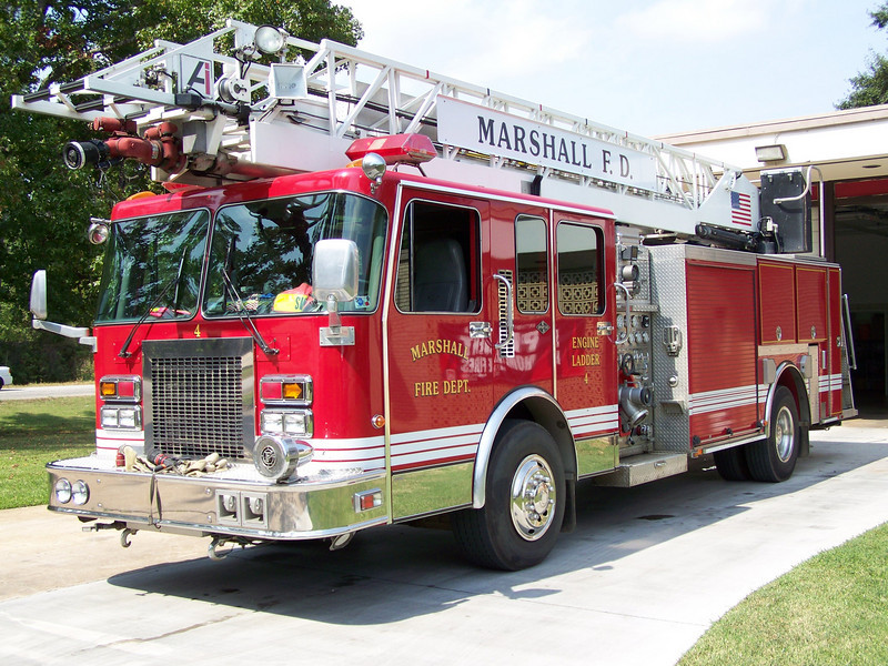 Marshall Fire Departments Engine Ladder 4