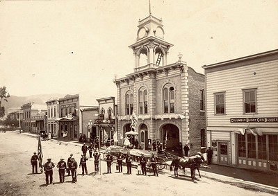 800 block of Higuera Street, 1890-1910 with Fire Department