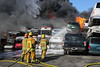 Tujunga IC - Major Emergency Auto Recycling Yard Fire - LAFD - 04/17/16