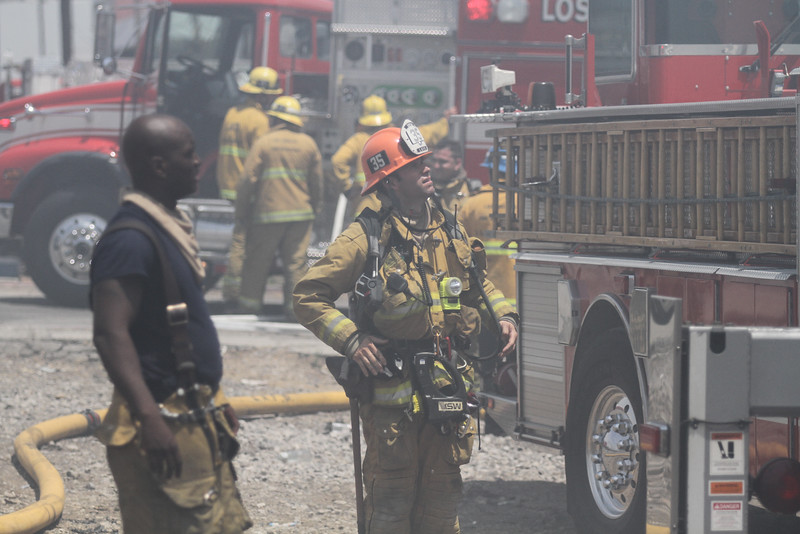 Valley IC - LAFD Commerical Structure Fire - June 28, 2015