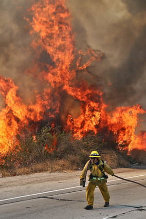 Lincoln IC - LACoFD Brush Fire - August 16, 2015