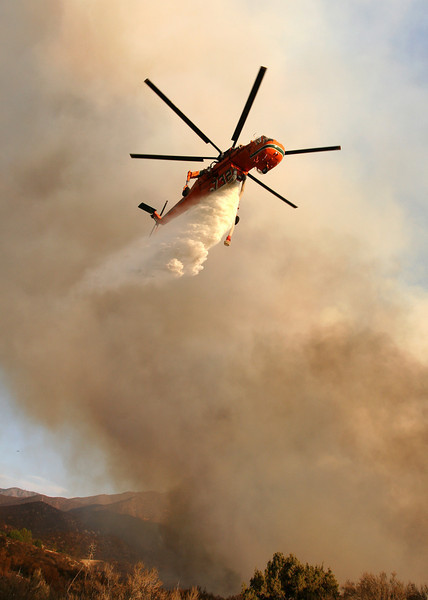 Wildland fire in Southern California