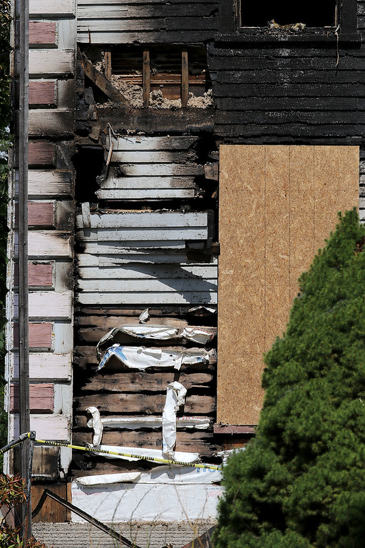 . A view of the home at 19 Prospect Street in Fitchburg that was involved in a fire over the weekend. SENTINEL & ENTERPRISE/JOHN LOVE