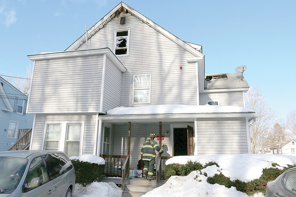 . A fire broke out at 81 Narrows Lane, the home of six apartments, around midnight on January 9, 2018. SENTINEL & ENTERPRISE/JOHN LOVE