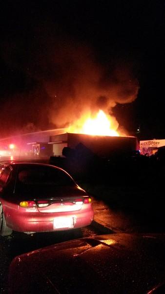 Fire at El Pueblo Market