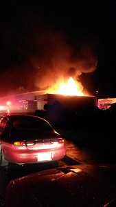 The El Pueblo Market in Eureka caught fire earlier Wednesday morning just after 5:20 a.m. (Tony Jack - Contributed)