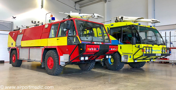 R299 FOJ Reynolds Boughton 6x6 / Reynolds Boughton Barracuda crash tenders ex Birmingham Airport Fire Service & JI08 ODF Simon Gloster Saro Predator 4x4