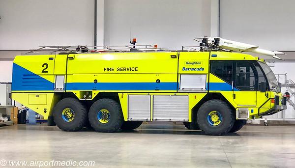 R299 FOJ Reynolds Boughton 6x6 / Reynolds Boughton Barracuda crash tenders ex Birmingham Airport Fire Service.