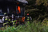 KRISTOPHER RADDER — BRATTLEBORO REFORMER<br /> Several fire departments responded to a two-alarm fire at 1390 Coolidge Highway, in Guilford, Vt., early Monday, Sept. 14, 2020. The home was engulfed in flames when the first crew arrived on the scene.