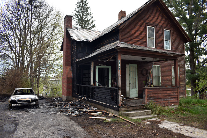 HOLLY PELCZYNSKI - BENNINGTON BANNER The cause of a fire on Grandview Street in Bennington  that claimed two homes early Friday morning is still under investigation.
