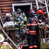 KRISTOPHER RADDER — BRATTLEBORO REFORMER<br /> Several departments responded to a two-alarm fire at 140 Reed Road, in Athens, Vt., on Tuesday, April 28, 2020.