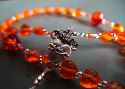fire opal & hyacinth rosary