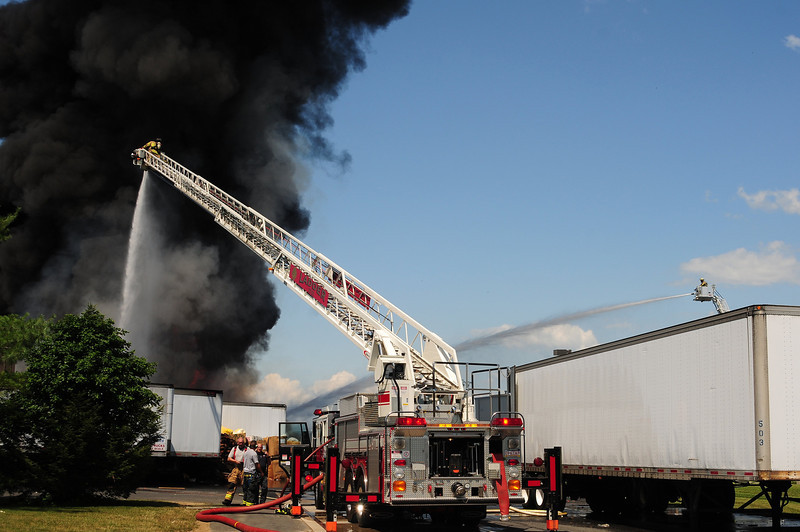3rd Alarm Fire at National Plastics & Manufacturing Co. Inc. in Palmer Twp, Pa