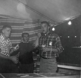 J.B. Diamond, Carlton Thomas & Dale Turner at cigarette stand