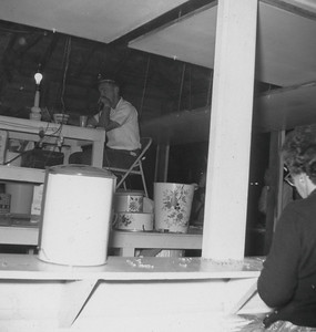 Dick Ream calling Bingo At carnival - Aug. 1961