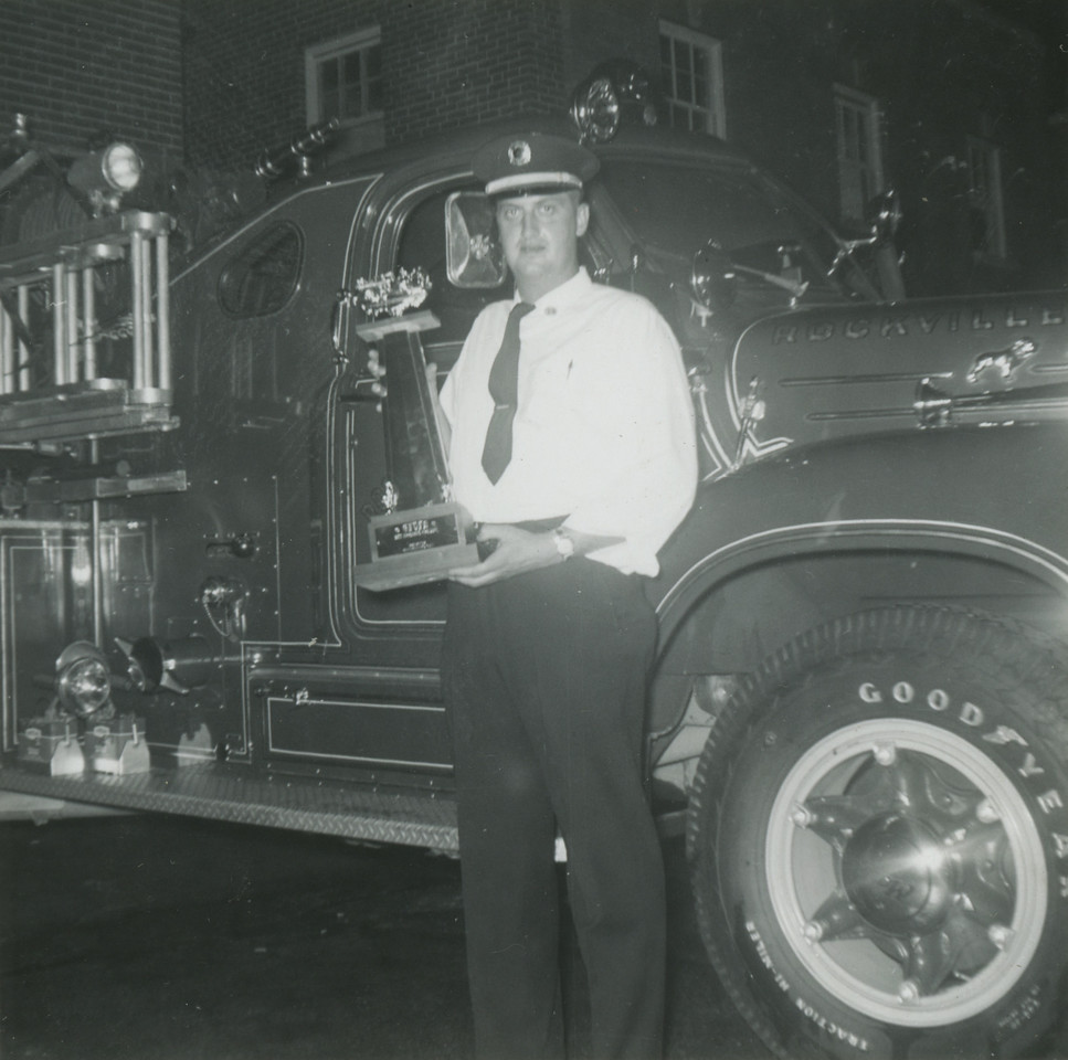 Jimmy Barrack with trophy won at Great Falls, VA RVFD- Best Appearing Company