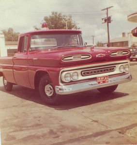 RVFD (new) service truck July 1961 In front of Beall's Esso