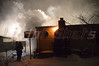 The Mastic Fire Dept. and units from SCPD 7th pct. responded to this working structure fire early Friday morning, 01/03/2014, at approx. 00:25 hrs. in a house on Avondale Dr. The fire is believed to have started in the family's Christmas tree located in a room to the rear of the house. The fire was so intense that it caused windows to break and the fire self vented in the exposure 3-4 corner. The family was able to escape the inferno unscathed, but at the time of this writing, the fate of their pets is unknown