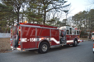 """On 01/08/2014 at approx. 15:30 hrs. the Rocky Point F.D, units from SCPD's 7th pct., and Sound Beach F.D. (on automatic mutual aid) responded to a reported vacant house fire at 10 The Bend in Shoreham. First arriving units encountered a heavy smoke condition and upon their primary search, found the cause to be a faulty oil burner. One 1 3/4"""" line was stretched and members made quick work of the situation. Rocky Points Chief McCarrick (5A-07-30) was in charge of the scene and reported no injuries."""