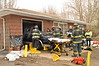 Truck crashes into parked car in garage in Ridge Sunday, March 02, 2014. An elderly man was slightly injured at approx. 12:15 p.m. when he crashed his Dodge Dakota pick-up truck into a 1969 Mercedes Benz  220 Diesel (with 99,000 miles) that was parked inside his garage at a house on Smith Rd. The Ridge F.D. responded and needed to extricate the man from his truck. It was said at the scene that he mistook his gas pedal for his brake pedal. He was being evaluated by Ridge F.D. E.M.S. for transport to the hospital.