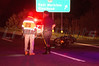 Motorcyclist wrecks in East Moriches Saturday, May 24, 2014. A motorcyclist, traveling east bound on Sunrise Hgwy. (Rt. 27), lost control of his bike at approx. 21:15 hrs. just before exit 61. The East Moriches F.D., East Moriches Ambulance, SCPD Hgwy. Patrol, 7th Pct., and Aviation responded to the alarm. The pt. was treated by crews from E. Moriches Ambulance then transferred to an awaiting SCPD helo for MEDEVAC to Stony Brook University Hospital. It was unknown what caused the motorcyclist to lose control and Rt. 27 east bound was closed at exit 59 while the investigation continued into the night.