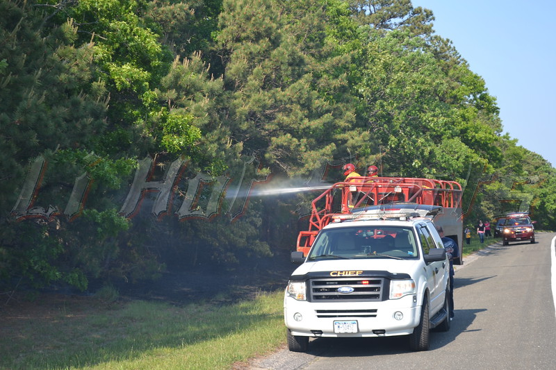 05-30-2013 1655 hrs. <br /> Riverhead F.D. responded for reports of a brush fire on Rt. 24 &  Edwards Ave. Upon arrival, Riverhead F.D. units discovered approx. six separate brush fires along the roadside on Rt. 24 near the cross street of Edwards Ave. Extra engines, tankers, and manpower were called for and mutual aide was requested from Flanders F.D. Fire marshals are investigating.