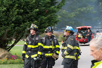 House destroyed by fire in Coram Saturday, August 30, 2014. A fast moving fire gutted a two-story house on Howard Drive this afternoon at approx. 4:15 p.m. The fire broke out while the family was at home and officials on the scene said the occupants were able to safely evacuate without injury. Coram F.D. Chief Tim Timms was in charge of the scene. The cause of the fire was not known at this time and an investigation is continuing.