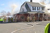 On Friday Nov. 08, 2013 at approx. 10:45 hrs., the Bohemia Fire Dept. was toned out when a fire broke out in the basement of Knockouts Bar & Grill located on Lakeland Ave. in Bohemia, N.Y. A mayday was transmitted when a firefighter fell through a set of basement stairs and the firefighter was removed with minor injuries. Mutual aid was provided by numerous surrounding departments.