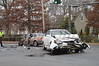 The Rocky Point F.D. & officers from SCPD's 7th Pct. responded to this head-on MVA (motor vehicle accident) on 12/05/2013 at approx. 08:15 hrs on Rt. 25a & Miller Ave. EMS personell treated and transported the victims to local hospitals while R.P.F.D.'s Bravest secured the vehicles.