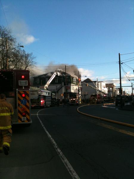 Schuylkill County - Frackville Borough - Apartment Building Fire - 11/28/09