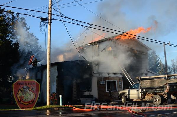 Luzerne County - Hazle Twp. - Building Fire - 10/16/2012
