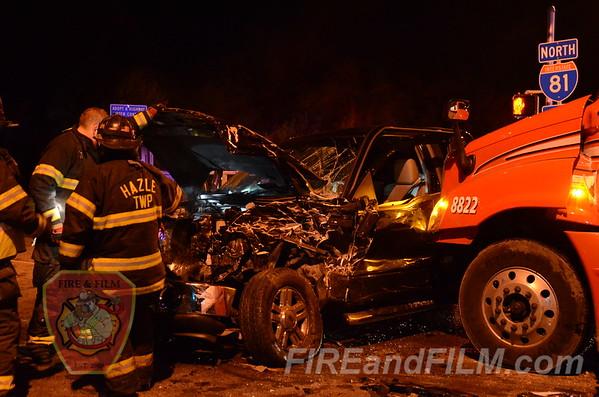 Luzerne County - Hazle Twp. - MVA w/helo - 10/16/2012