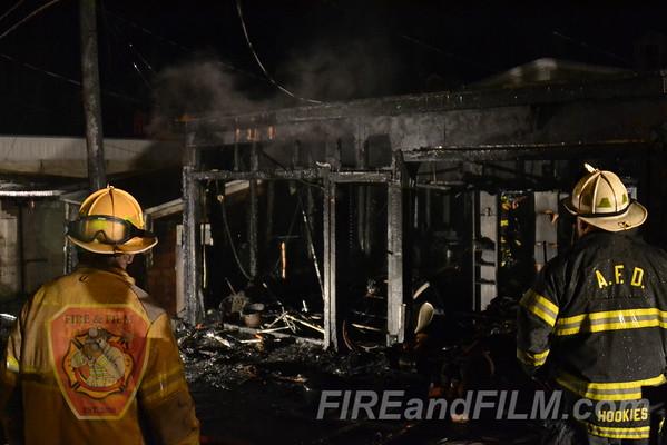 Schuylkill County - Ashland Borough - 2 alarm garage fire - 8/1/2012