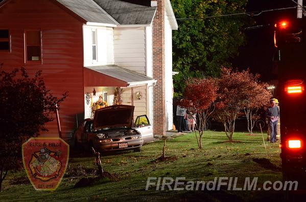 Schuylkill County - Butler Twp. - Car vs House - 10/22/2012