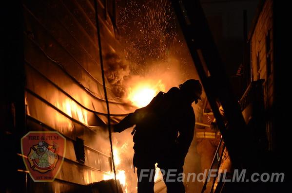 Schuylkill County - Frackville Borough - Commercial Fire - 9/7/2012