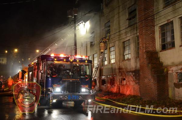 Schuylkill County - Shenandoah Borough - Factory Fire - 12/7/12
