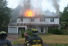 07/19/2013 12:50 hrs Rocky Point Fire Dept. 42 Cobblestone Drive Shoreham, NY : Fire occurred on Friday 07/19/2013 at approx. 12:50 hrs. after a house located at 42 Cobblestone Drive in Shoreham, Long Island, NY was reportedly struck by lightning. Two dogs reportedly perished in the fire. The Rocky Point F.D. responded and extinguished the fire with the assistance of numerous mutual aide departments.