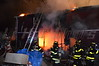 12/02/2013 23:50 hrs. Hagerman Fire 187 Orchard Rd. : On 12/02/2013 at approx. 23:50 hrs. the Hagerman F.D. & SCPD was notified of this structure fire located at 187 Orchard Rd. in East Patchogue, Long Island, New York. The fire was located in a garage, which had an apartment on the second floor, to the rear of the residence. While responding to the scene, units were advised that there was oxygen and acetylene cylinders being stored in the garage, and at least one explosion was heard during the early stages of the fire. Units were met with an advanced fire condition upon arrival and were able to make quick work of the blaze and knock it down saving most of the garage.
