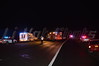 On 12/10/2013 at approx. 21:20 hrs. the Medford F.D. (under the command of Chief Hart, 05-14-30) along with units from the SCPD Hgwy. Patrol responded to this two car accident on the LIE (Rt. 495) west bound between exits 65 & 66. The Ford Mustang, which was found in the condition as shown, apparently rear-ended the other car and then careened out of control, flipping over and landing in the median. No occupants were found in the Mustang so Medford's Bravest then put their TIC's (thermal imaging cameras) to use to search the surrounding woods for any sign of a victim/s who may have been ejected from the Mustang. The search was negative and all units took up. A little while later, SCPD Hgwy. Patrol units allegedly found the driver of the Ford along the LIE service road.