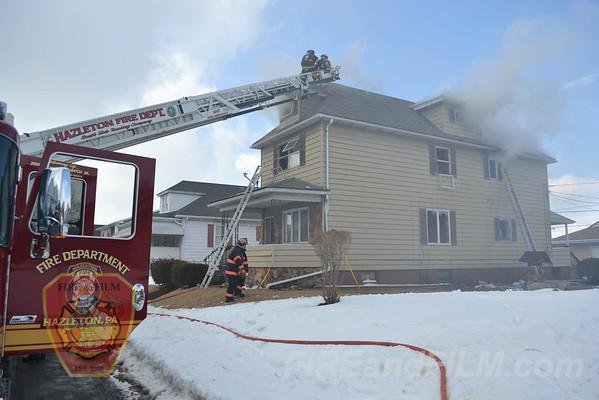 Luzerne County - Hazleton City - Dwelling Fire - 03/19/2013