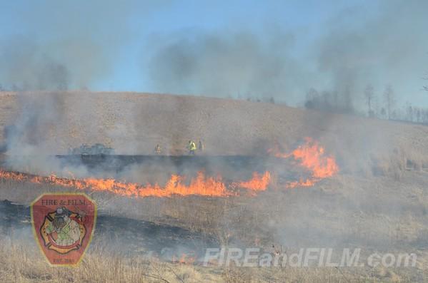 Schuylkill County - Mahanoy Twp. - Brush Fire - 04/06/2013