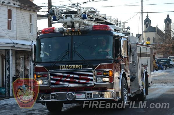 Schuylkill County - Shenandoah Borough - MedEvac 7 Landing - 01/11/2013