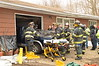 03/02/2014 1215 hrs Ridge Smith Rd MVA-Lambui : Truck crashes into parked car in garage in Ridge Sunday, March 02, 2014. An elderly man was slightly injured at approx. 12:15 p.m. when he crashed his Dodge Dakota pick-up truck into a 1969 Mercedes Benz  220 Diesel (with 99,000 miles) that was parked inside his garage at a house on Smith Rd. The Ridge F.D. responded and needed to extricate the man from his truck. It was said at the scene that he mistook his gas pedal for his brake pedal. He was being evaluated by Ridge F.D. E.M.S. for transport to the hospital.