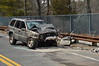On 03/25/2014 at approx. 13:10 hrs., the S.C.P.D., Brookhaven F.D. and South Country Ambulance were toned out for a reported MVA/entrapment on the Sunrise Hgwy. service road north between River Rd. and Gerard Rd. Upon arrival, Brookhaven's Bravest found a two vehicle head-on MVA involving a east bound Jeep Grand Cherokee and a west bound mini school bus in which the driver of the Jeep required extrication. The male driver of the Jeep, and the female driver of the school bus were both injured and were transported to Brookhaven Memorial Hospital by South Country Ambulance. It was unknown what caused the driver of the Jeep to veer into the oncoming school bus, SCPD is investigating