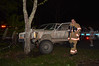 05/17/2014 22:30 hrs. Manorville Car vs tree-hydrant-Lambui : Jeep takes out fire hydrant and tree in Manorville, Saturday, May 17, 2014. Officers from SCPD's 7th pct., the Manorville F.D., and Manorville Community Ambulance responded at approx. 10:30 p.m. when the driver of this Jeep lost control and struck a fire hydrant, shearing the hydrant off of it's base, then struck a tree, while traveling south bound on Florence Dr. The driver reported no injuries, while his female passenger was transported by ambulance to a local hospital, complaining of minor injuries.