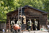 07/06/2014 14:00 hrs. Wading River Fire-Lambui : Garage fire in Wading River Sunday, July 6, 2014.  At approx. 14:00 hrs. the Wading River F.D. and SCPD 7th Pct. officers responded to reports of a detached garage fire on Frost Lane. Upon arrival, W.R.F.D.'S first due unit transmitted a 13/35 (working structure fire) for a propane fed fire in a detached garage. Under the command of 1st assistant Chief Mark Donnelly (06-03-31) Wading Rivers Bravest had the fire quickly knocked down, keeping the damage to the garage to a minimum, and mitigated the propane BBQ cylinder leak.